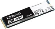 SSD KINGSTON SKC1000/480G KC1000 480GB NVME PCIE GEN3 X 4 M.2 2280 υπολογιστές   εσωτερικοί σκληροί δίσκοι   ssd