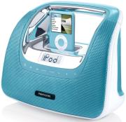 memorex portradio minimove teal ipod iphone mp3 photo