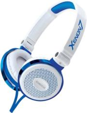 sonicgear xenon 7 wired headset with mic white blue photo
