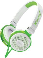 sonicgear xenon 7 wired headset with mic white green photo