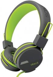 sonicgear headphones vibra 5 with mic grey green photo