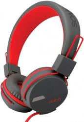 sonicgear headphones vibra 5 with mic grey red photo