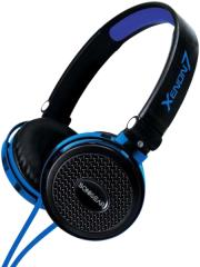 sonicgear xenon 7 wired headset with mic black blue photo