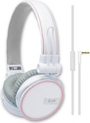 akoystika headset iluv rockefeller jeans mfi white photo