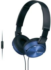 sony mdr zx310apl headphones blue photo