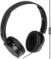 sony mdr zx110ap extra bass headset black photo