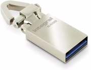 integral tag usb 30 64gb flash drive silver metal photo
