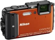 nikon coolpix aw130 orange photo
