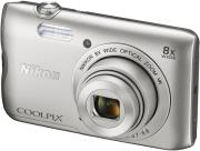 nikon coolpix a300 silver photo
