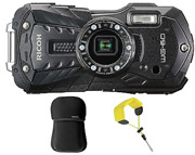 RICOH WG-60 TOUGH WATERPROOF DIGITAL CAMERA CASE AND STRAP B...
