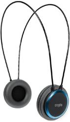 crypto hp 100 on ear headphone black blue photo