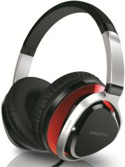 creative aurvana live2 over the ear headset red photo