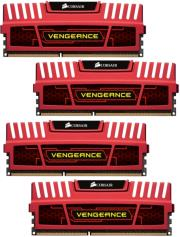ram corsair cmz32gx3m4x1866c10r vengeance xmp 32gb 4x8gb pc3 14900 quad channel kit red photo