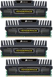 ram corsair cmz32gx3m4x1600c10 vengeance xmp 32gb 4x8gb pc3 12800 quad channel kit black photo