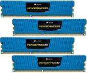 ram corsair cml16gx3m4a1600c9b vengeance 16gb 4x4gb pc3 12800 dual channel kit blue photo