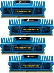 ram corsair cmz16gx3m4a1600c9b vengeance 16gb 4x4gb pc3 12800 quad channel kit blue photo