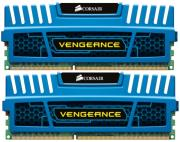 ram corsair cmz8gx3m2a1600c9b vengeance 8gb 2x4gb pc3 12800 dual channel kit blue photo