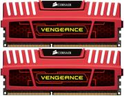 ram corsair cmz8gx3m2a1600c9r vengeance 8gb 2x4gb pc3 12800 dual channel kit red photo