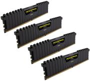ram corsair cmk16gx4m4a2666c15 vengeance lpx black 16gb 4x4gb ddr4 2666mhz quad channel kit photo