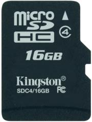 kingston sdc4 16gbsp 16gb micro sdhc class 4 no adapter photo