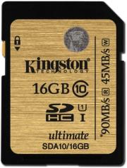 kingston sda10 16gb 16gb sdhc class 10 uhs i ultimate flash card photo
