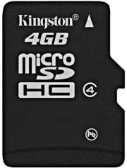 kingston sdc4 4gbsp 4gb micro sdhc class 4 no adapter photo