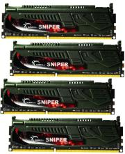 ram gskill f3 2400c11q 16gsr 16gb 4x4gb ddr3 2400mhz cl11 sniper quad channel kit photo