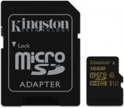 kingston sdca10 16gb 16gb micro sdhc class 10 uhs i with adapter photo