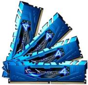 ram gskill f4 2400c15q 16grb 16gb 4x4gb ddr4 2400mhz ripjaws 4 blue quad channel kit photo