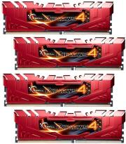 ram gskill f4 2400c15q 16grr 16gb 4x4gb ddr4 2400mhz ripjaws 4 red quad channel kit photo