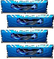 ram gskill f4 2400c15q 32grb 32gb 4x8gb ddr4 2400mhz ripjaws 4 blue quad channel kit photo