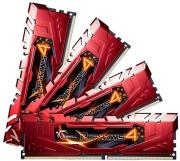 ram gskill f4 2666c15q 32grr 32gb 4x8gb ddr4 2666mhz ripjaws 4 red quad channel kit photo