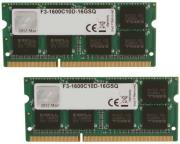 ram gskill f3 1600c10d 16gsq 16gb 2x8gb so dimm ddr3 pc3 12800 1600mhz dual channel kit photo