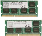 ram gskill f3 1600c11d 16gsq 16gb 2x8gb so dimm ddr3 pc3 12800 1600mhz dual channel kit photo