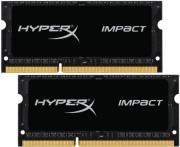 ram hyperx hx321ls11ib2k2 8 8gb 2x4gb so dimm ddr3l 2133mhz hyperx impact black dual kit photo