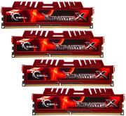 ram gskill f3 10666cl9q 16gbxl 16gb 4x4gb ddr3 pc3 10666 1333mhz ripjawsx quad channel kit photo