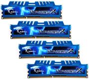 ram gskill f3 12800cl9q 16gbxm 16gb 4x4gb ddr3 pc3 12800 1600mhz ripjawsx quad channel kit photo