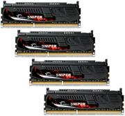 ram gskill f3 12800cl9q 16gbsr 16gb 4x4gb ddr3 pc3 12800 1600mhz sniper quad channel kit photo