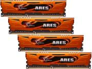 ram gskill f3 1600c9q 16gao 16gb 4x4gb ddr3 pc3 12800 1600mhz ares quad channel kit photo