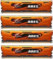 ram gskill f3 1600c10q 32gao 32gb 4x8gb ddr3 pc3 12800 1600mhz ares quad channel kit photo