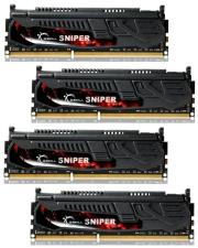 ram gskill f3 17000cl11q 16gbsr 16gb 4x4gb ddr3 pc3 17000 2133mhz sniper quad channel kit photo