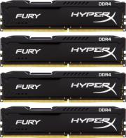 ram hyperx hx426c15fbk4 16 16gb 4x4gb ddr4 2666mhz hyperx fury black series quad channel kit photo
