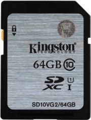 kingston sd10vg2 64gb 64gb sdhc class 10 uhs i photo