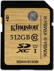 kingston sda10 512gb 512gb sdxc class 10 uhs i ultimate flash card photo