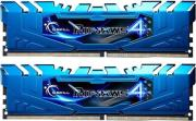 ram gskill f4 3000c15d 8grbb 8gb 2x4gb ddr4 3000mhz ripjaws 4 blue dual channel kit photo