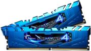 ram gskill f4 3200c16d 8grb 8gb 2x4gb ddr4 3200mhz ripjaws 4 blue dual channel kit photo