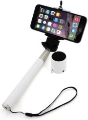 xlayer selfie stick plus bluetooth speaker white photo