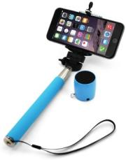 xlayer selfie stick plus bluetooth speaker blue photo
