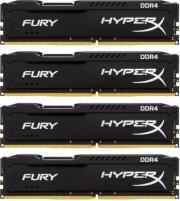 ram hyperx hx424c15fbk4 64 64gb 4x16gb ddr4 2400mhz hyperx fury black quad kit photo