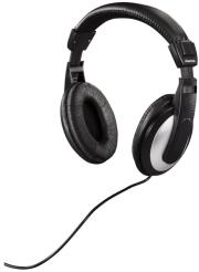 hama 93032 over ear stereo headphones hk 3032 black silver photo